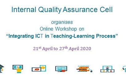 """Six Days Online Workshop on """"Integrating ICT in Teaching-Learning Process"""""""